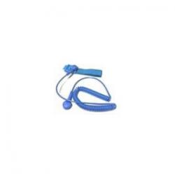 D0103-C, ESD bileklik set, kumaş, 1.5 m uzunluk, 10 mm çift çıtçıt, mavi