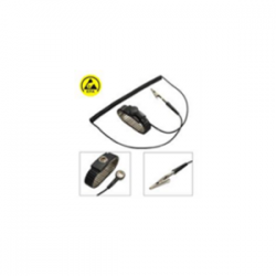 D0106, ESD bileklik set, metal, 1.5 m uzunluk, 10 mm çıtçıt, siyah